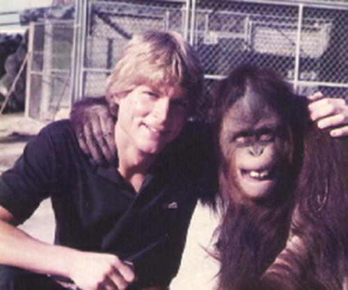 resize-Orangutan with buddy Chris Cauble